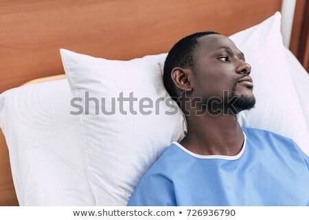paciente · Asia · hombre · cama · hospital - foto stock © rastudio