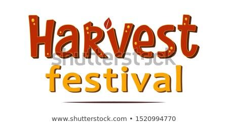 otono · cosecha · hortalizas · frutas · calabaza · tomates - foto stock © lenm