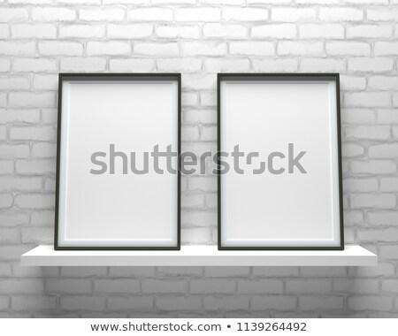 Zarif minimalist iki resim kareler ayakta Stok fotoğraf © adamr