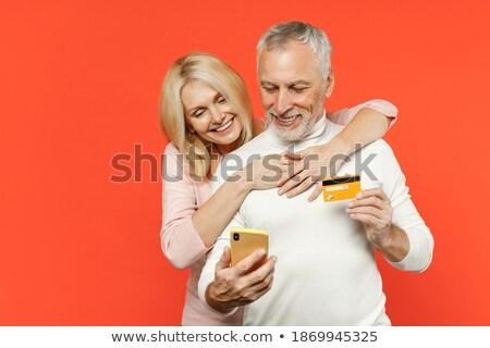 Rubio pelo hombre blanco dinero establecer Foto stock © toyotoyo
