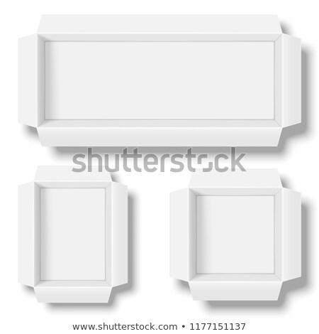 blanche · carton · rectangle · vecteur · vide · cases - photo stock © timurock