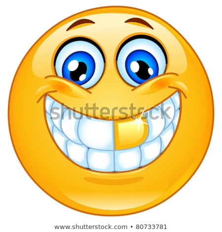 золото зубов смайлик лице дизайна Сток-фото © yayayoyo
