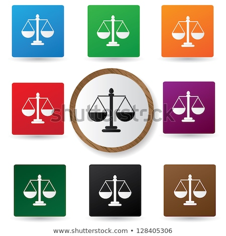 Red Scales and Libra Icon Vector Illustration Stock photo © cidepix
