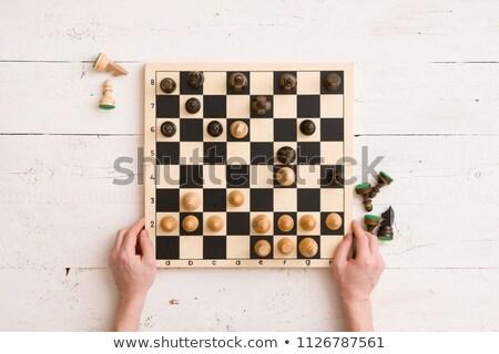 Educativo gioco top view ragazzi puzzle Foto d'archivio © Olena