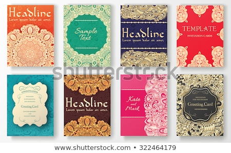 Set of ethnic ornament banners and flyer concept. Vintage art traditional, Islam, arabic, indian, ot stock photo © Linetale