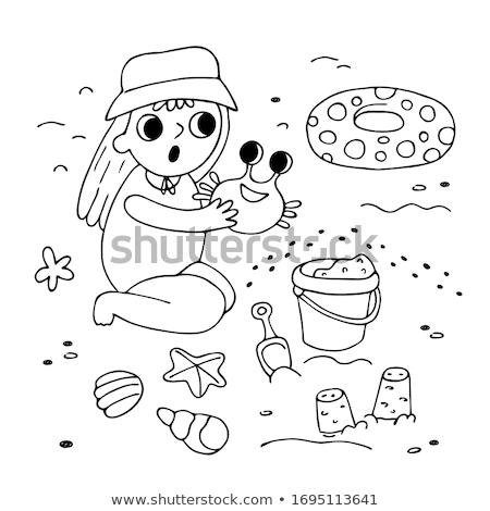 Surprised Cartoon Beach Bucket Stock photo © cthoman