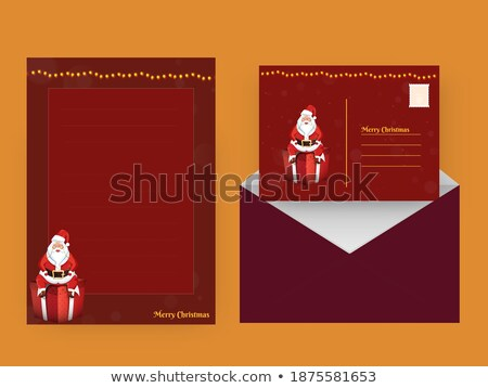 colored double sided greeting card stock photo © lissantee