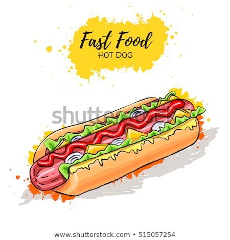 Sandwich and Hot Dog Isolated on Brown Backdrop Stock photo © robuart