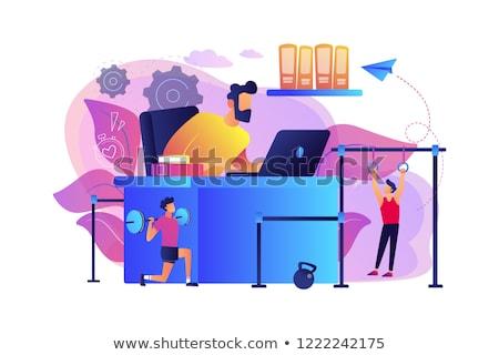 Munkaterület üzletember dolgozik testmozgás iroda modern Stock fotó © RAStudio