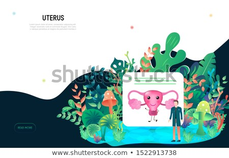 Uterus and ovaries beautiful flower icon Stock photo © Tefi