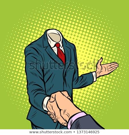 cartoon · imprenditore · stretta · di · mano · uomini · ritratto · successo - foto d'archivio © studiostoks