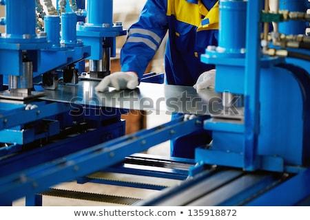 Foglio metal fabbricazione primo piano dettaglio tecnologia Foto d'archivio © boggy