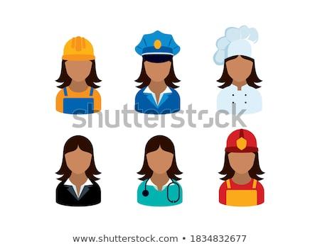 Médico mujer policía establecer poli 3D Foto stock © robuart