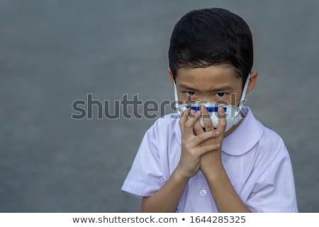 pensativo · menino · retrato · diligente · notas · musicais · papel - foto stock © lopolo