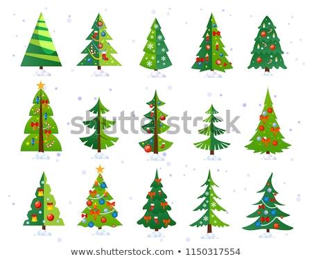 Noël · décoré · arbre · de · noël · heureux · résumé - photo stock © robuart