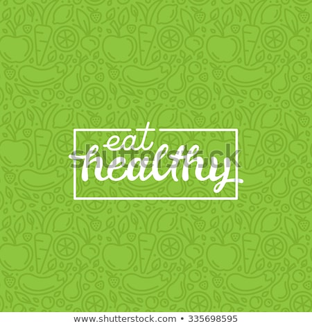 alimentos · saludables · verde · alimentos · logo · plantilla · vector - foto stock © Natali_Brill