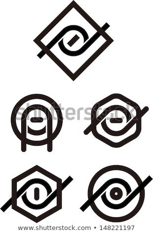 眼 ロゴ 文字q ベクトル アイコン シンボル ストックフォト © blaskorizov