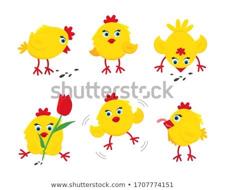 Hat áll tojások illusztráció baba Stock fotó © colematt