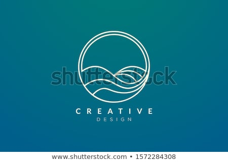 Su dalga logo simge arka plan Stok fotoğraf © blaskorizov