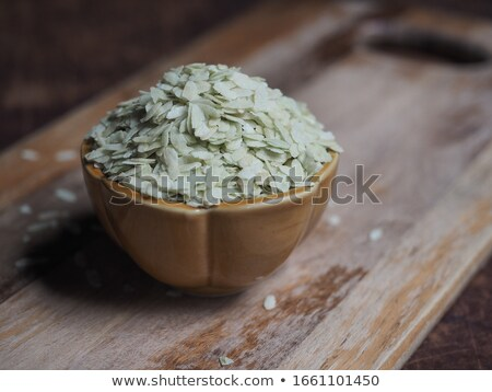 Shredded rice grain, Kao mao, Thai snack Stock photo © eddows_arunothai