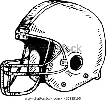 amerykański · piłka · nożna · kask · line · rysunek · ilustracja - zdjęcia stock © arkadivna