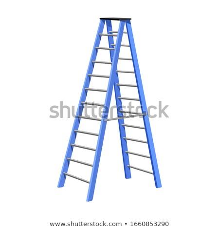 лестнице белый иллюстрация древесины фон Сток-фото © colematt