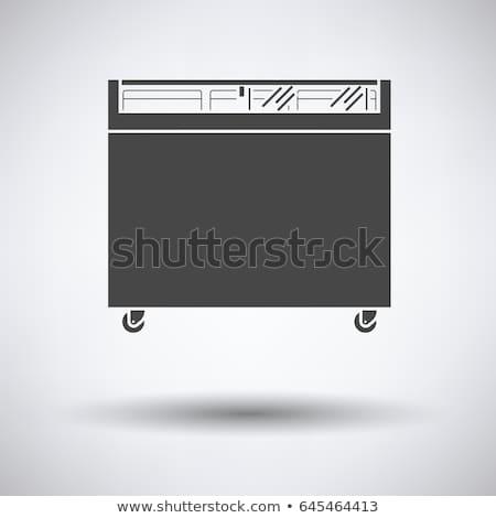 スーパーマーケット 携帯 冷凍庫 アイコン 色 デザイン ストックフォト © angelp