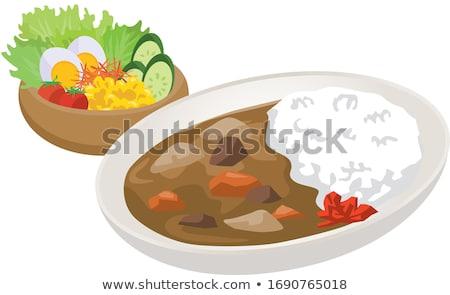 vector set of curry rice stock photo © olllikeballoon