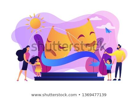 Stockfoto: Theater camp concept vector illustration.