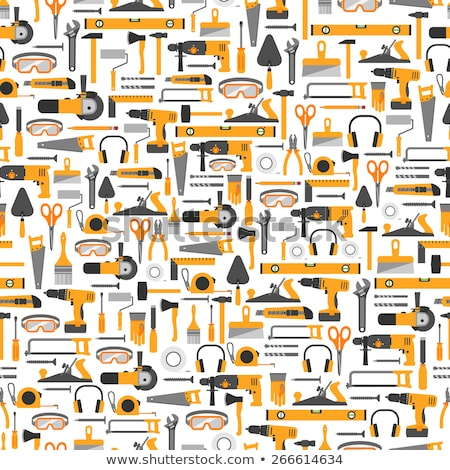 pattern with construction tools icons   tools kit banner stock photo © winner