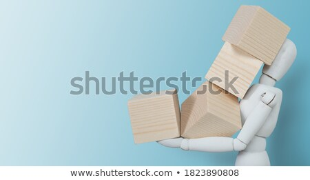 Human Dummy Figure On Wooden Block Stock photo © AndreyPopov