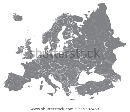 Албания карта высокий подробный иллюстрация Сток-фото © kyryloff