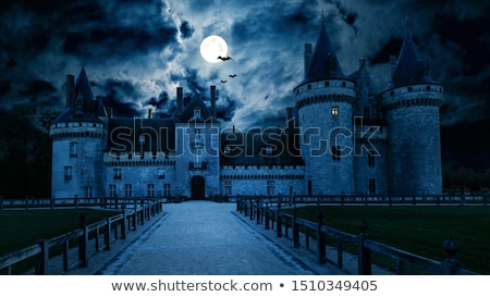 medieval · cena · noturna · ilustração · céu · fundo · arte - foto stock © bluering