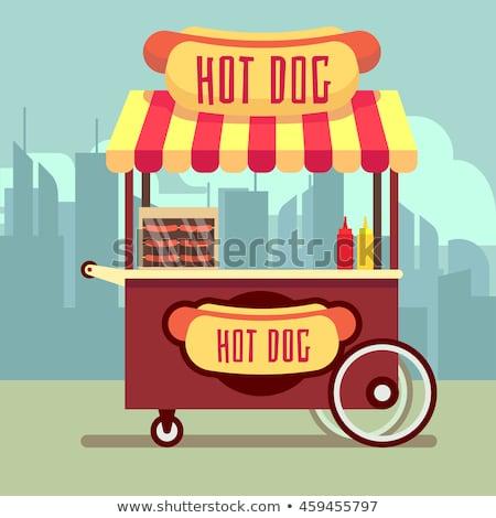 уличной еды корзины горячей собаки вектора человека Сток-фото © robuart