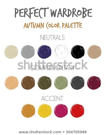 Warm color Summer material set Stock photo © Blue_daemon