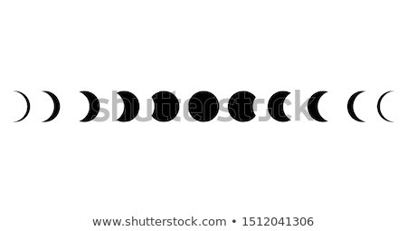 phases of the moon set Stock photo © Blue_daemon