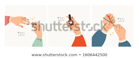 Manicure and Hand Treatment Nails Polishing Vector Stock photo © robuart