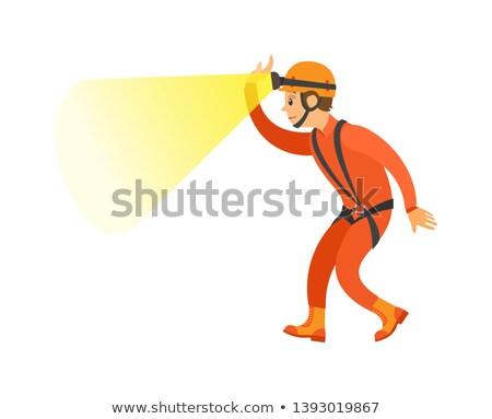 male in orange suit and helmet activity vector stock photo © robuart