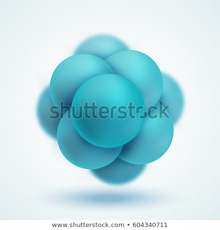 Abstract image of the molecular structure in circle. nanotechnology concept, connection model. stock Stock photo © kyryloff