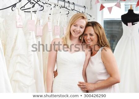 母親 支援 娘 選ぶ ドレス ブライダル ストックフォト © HighwayStarz