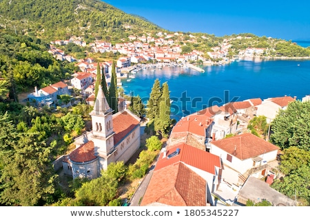 Korcula Idyllic coastal village of Racisce on Korcula island wat Stock photo © xbrchx
