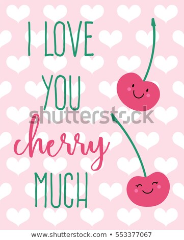I love you this much - Typography poster with romantic heart Stock photo © Zsuskaa