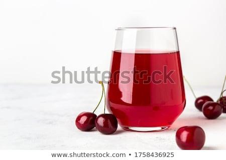cherry juice and berries Stock photo © tycoon