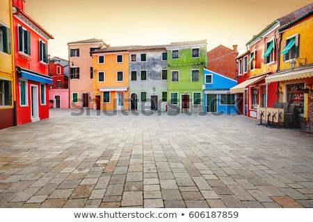 Venedik binalar İtalya sokak dar yol Stok fotoğraf © artjazz