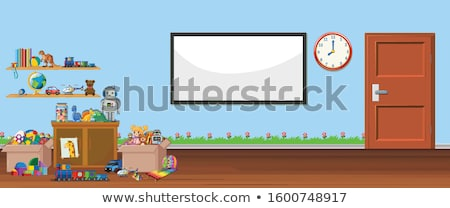 Background scene with whiteboard and toys Stock photo © bluering