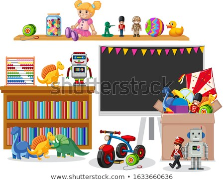 Room with blackboard and many toys Stock photo © bluering
