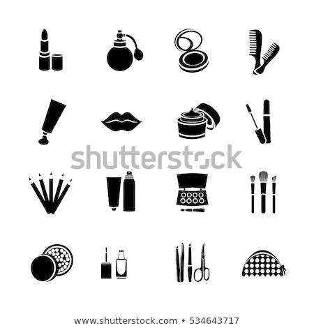 Banner bianco nero compongono bag set moda Foto d'archivio © Illia