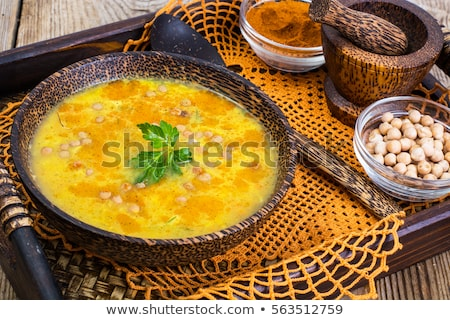 Vegetarian food is without meat: soup with chickpeas Stock photo © joannawnuk