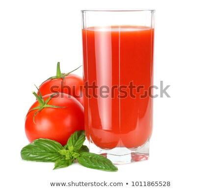 Afbeelding tomaten tomatensap witte voedsel dieet Stockfoto © vkstudio