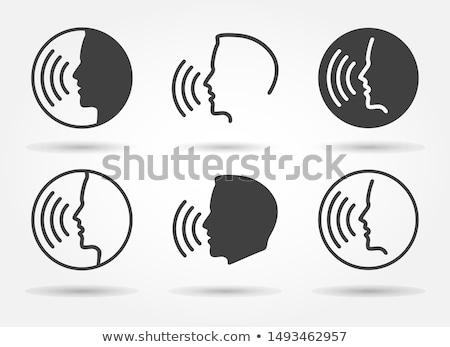 человека голосом контроль икона вектора тонкий Сток-фото © pikepicture